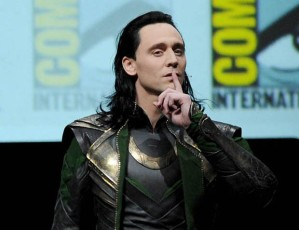 SAN DIEGO, CA - JULY 20: Actor Tom Hiddleston speaks onstage at Marvel Studios